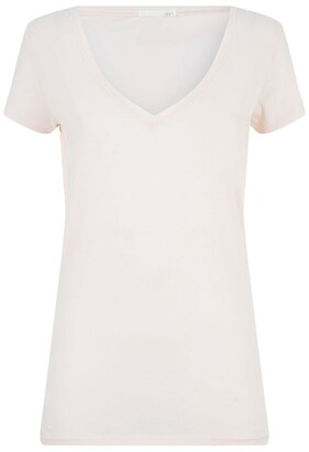 Skin V-Neck Easy T-Shirt