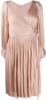 Maria Lucia Hohan Dianys pleated wrap dress