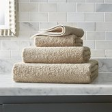 Crate & Barrel Egyptian Cotton Sand Tan Bath Towels
