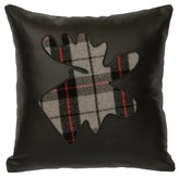 Adona Plaid Moose Throw Pillow Loon Peak