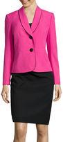 Le Suit Long-Sleeve Shawl Collar Skirt Suit Set