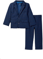Andy & Evan Thin Check Suit Coat & Pant Set (Toddler & Little Boys)