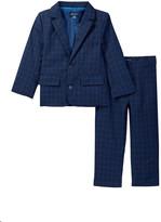 Andy & Evan Thin Check Suit Coat & Pants Set (Toddler & Little Boys)