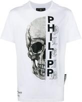"COTTON £530 RRP PHILIPP PLEIN /"" 78 /"" Crystal Embellished Black T Shirt UK L"