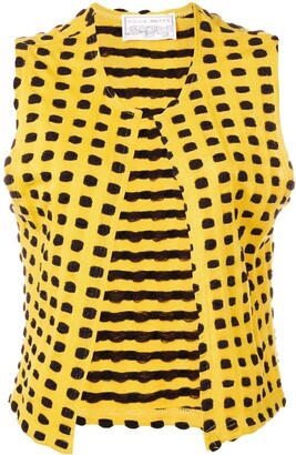 Krizia Pre Owned 1970's Graphic Knitted Vest