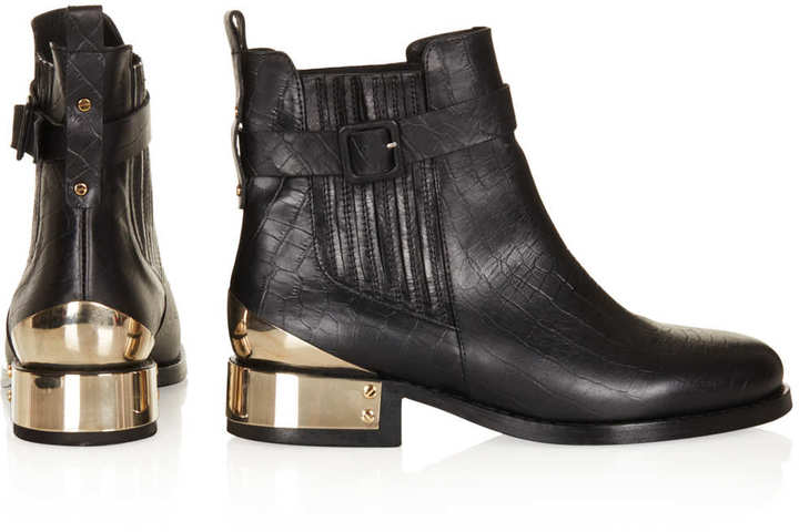 Topshop PAGO Buckle Chelsea Boots