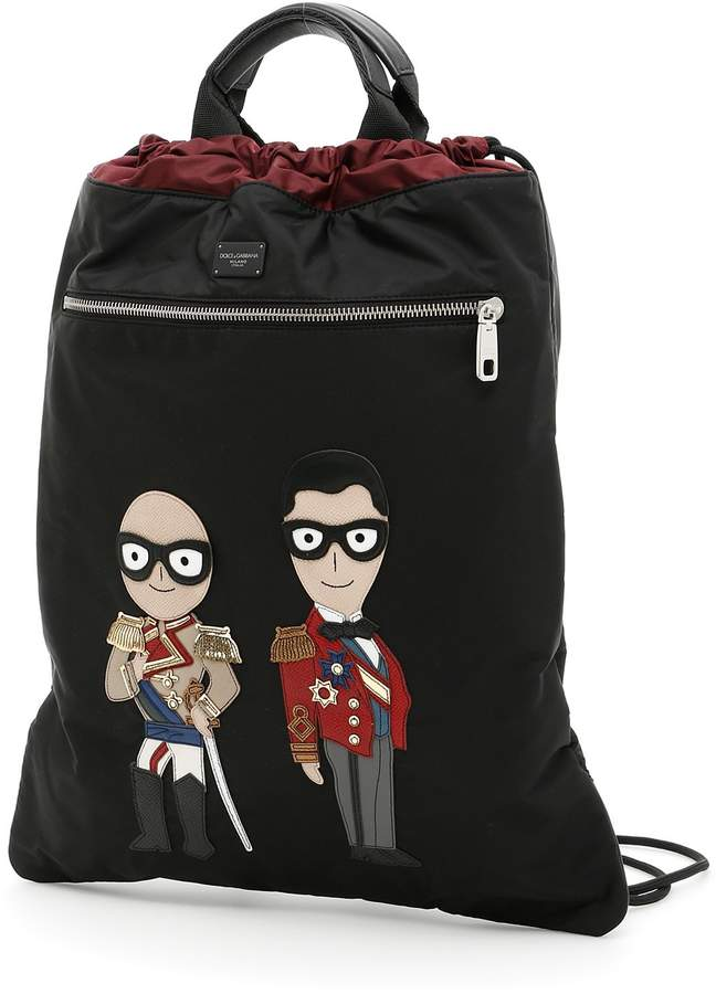 Dolce & Gabbana Nylon Backpack With Patches