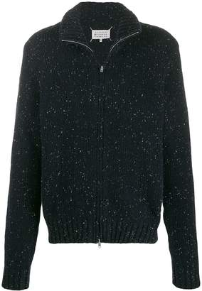 Maison Margiela knitted zip-front cardigan