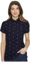 U.S. Polo Assn. Floral Print Knit Twill Polo Shirt