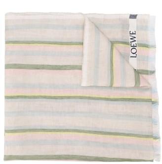 Loewe Stripe Linen Scarf