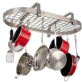 Enclume Low Ceiling Oval Rack with Grid in Brushed Stainless Steel