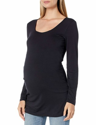 Daily Ritual Amazon Brand Women's Maternity Long-Sleeve Ruched Side T-Shirt
