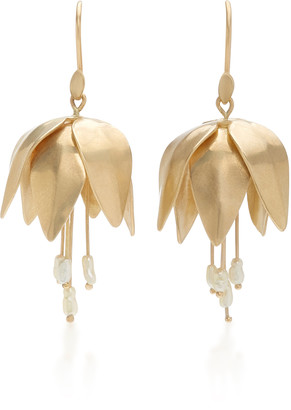 Annette Ferdinandsen 14K Gold And Pearl Earrings