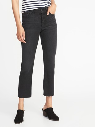 Old Navy Button-Fly Flare Ankle Jeans for Women