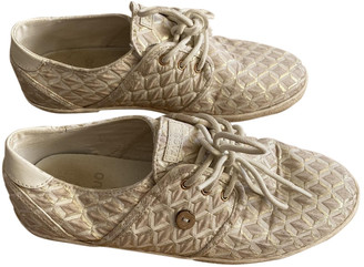 Faguo Gold Cloth Trainers