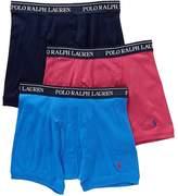 Polo Ralph Lauren Classic Cotton Knit Boxer Brief 3-Pack, S, Duck Blue Multi
