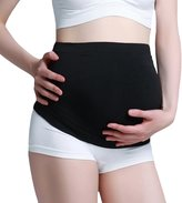 Gratlin Women's 3-Pack Maternity Seamless Pressure-Reduction Support Belly Band M