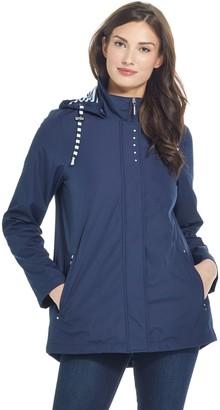 Weatherproof Hooded A-Line Bonded Topper Coat