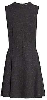 Theory Women's Sleeveless Sparkle Seamed A-Line Dress
