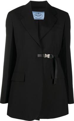 Prada Clip-Fastening Virgin-Wool Suit Jacket