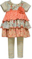 Bonnie Baby Baby Girls' Short Sleeve Knit Top & Legging Set