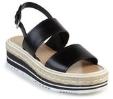 Prada Microsole Leather Double-Band Sandals