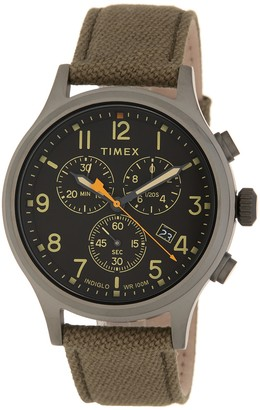 Timex Men's Allied Chronograph Leather Strap Watch, 42mm