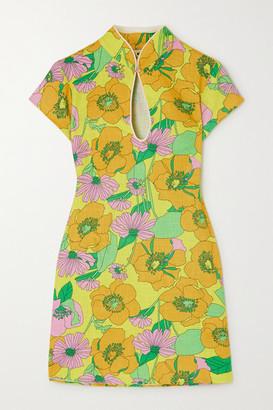 Rixo Lolita Floral-print Cotton Mini Dress - Yellow