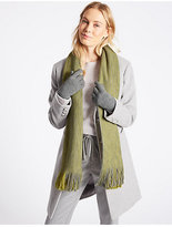 M&S Collection Colour Block Scarf & Gloves Set