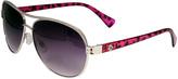 Big Buddha Pink & Black Animal Aviator Sunglasses