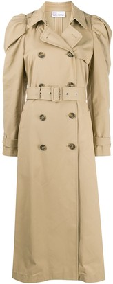 RED Valentino Puff Shoulder Trench Coat