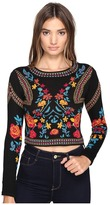 Romeo & Juliet Couture Floral Geometric Patterned Top
