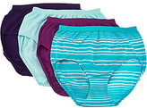 Jockey Seamfree Comfies Microfiber 4-Pack Brief Panties