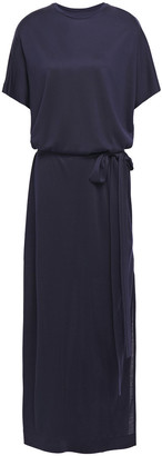 Ninety Percent Cutout Belted Draped Jersey Maxi Dress