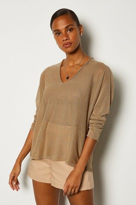 Karen Millen V Neck Knitted JUmper
