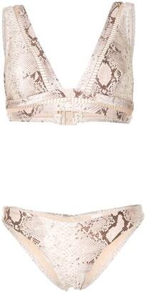Zimmermann Snake-Print Bikini Set