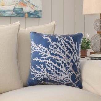 """Beachcrest Home Beaconsdale Coral Throw Pillow Size: 26"""" H x 26"""" W x 7"""" D"""