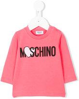 Moschino Kids - logo printed top - kids - Cotton/Spandex/Elastane - 3-6 mth