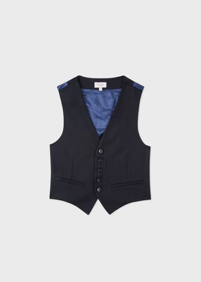 2-6 Years Navy 'A Suit To Smile In' Wool Waistcoat