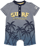 Petit Lem Surf Palm Tree Knit Playsuit, Multi, Size 12-24M