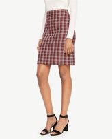 Ann Taylor Grid Jacquard Skirt