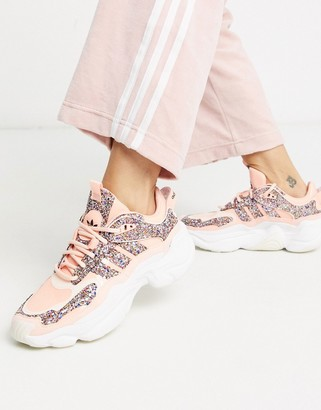 adidas Magmur runner in pink glitter