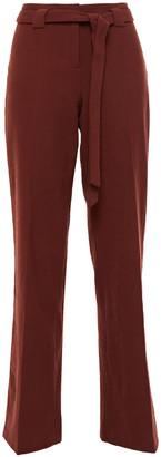 BA&SH Batik Belted Brushed-twill Straight-leg Pants