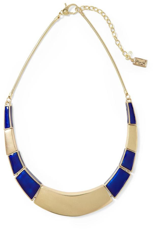 Kenneth Cole New York Modern Geo Blue & Gold Collar Necklace