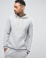 Asos Hoodie With Striped Cuffs