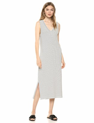 Daily Ritual Amazon Brand Women's Supersoft Terry Sleeveless V-Neck Midi Dress