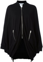 Givenchy draped zip jacket - women - Polyester/Viscose - 34