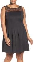 Ellen Tracy Beaded Fit & Flare Dress (Plus Size)