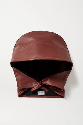 CLYDE Leather Hat - Brown