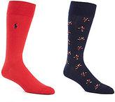 Polo Ralph Lauren Big & Tall Tumbling Skier Crew Dress Socks 2-Pack